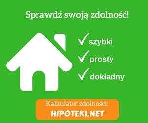 Kalkulator zdolności kredytowej Hipoteki.net